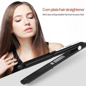 Kemei Seramik Saç Oluklu Curling Demir Saç Düzleştirici Crimper Sıcaklık Ayarı Elektrikli Bigudi Oluklu Dalga Saç