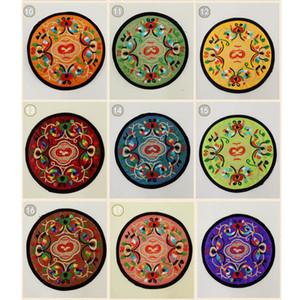 Ricamo ciclo di stoffa Drink Coaster Tabella tovagliette stampa floreale tazza di caffè Pad Cup Coasters termoresistente Non Slip Table Mats DBC BH2733