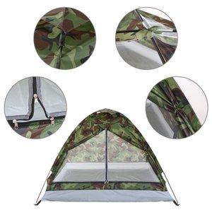 Taşınabilir Kamuflaj Seyahat Plaj Çadır Çadırlar Açık Yürüyüş Açık 1 Kişi Tek Katman için Çadır Carpas De Kamp Kamp