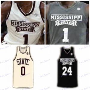 Mississippi State бульдогов на заказ Любой Название Количество прошитой Черный Серый Белый Красный # 2 Lamar Peters 11 Q. Weatherspoon NCAA Basketball Джерси