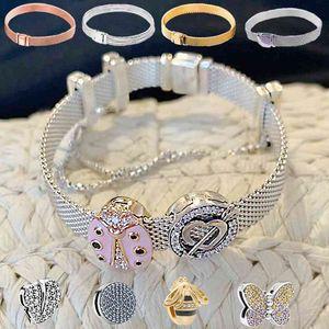 logo Jewelry 925 beads for reflexions pandora bracelets strand charm bracelet for woman girls lover Best gifts fine jewelry birthday gift