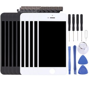 5 PCS Black + 5 PCS LCD Screen and Digitizer Full Assembly for iPhone 5