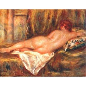 Hand gemalt Schöne Frau Liegender Akt Pierre Auguste Renoir Gemälde Figur Kunstwerk für Bürowanddekor