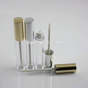 10 30 50pcs 6ml Empty Makeup DIY Lip gloss bottle cylindrical gold silver cap Labial glair tube Cosmetic Refillable Bottles