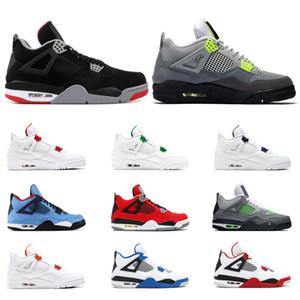 Air Retro Jordan 4 Hot vente de chaussures de basket-ball hommes 4 4s BRED taille Sports NEON Orange Violet Rouge Vert ALTERNATE métallisé MOTORSPORT 7-13