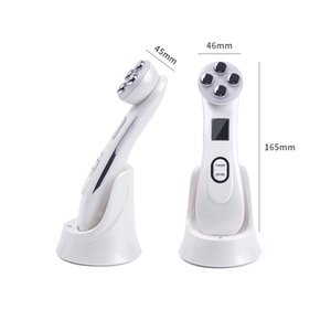 RF 5in1 Radio Mesotherapy Electroporation RF Radio Frequency LED Photon Device Face Lifting Tighten Wrinkle Removal Skin Care Massager