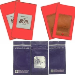 Olgun nüfus 420 paket mylar çanta Çerezleri california çanta SHERBINSHIS Bacio Gelato egzotik kokusu Kanıtı Mylar Çanta Packaging edibles