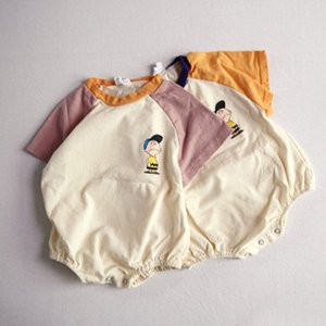 MILANCEL summer baby clothing cartoon style baby bodysuits short sleeve infant boys jumpsuits CX200603
