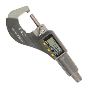 Freeshipping 0-25mm Digital Micrometer 0.001mm Metric Inch Outside Micrometer Measuring Instrument Electronic Micrometer Tools