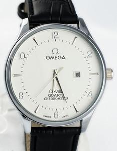 Acero inoxidable de lujo superior hombres Watch Bisel la alta calidad de la marca OMG Display Hombre Fecha reloj regalo de los hombres ocasionales del reloj del vestido de la venta caliente
