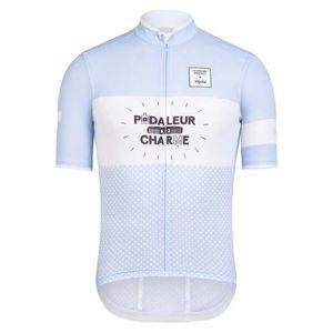 2019 RAPHA equipe Ciclismo Mangas Curtas jersey Respirável Poliéster Secagem Rápida Quente Nova Bicicleta Ao Ar Livre qualidade roupas de ciclismo 304517A