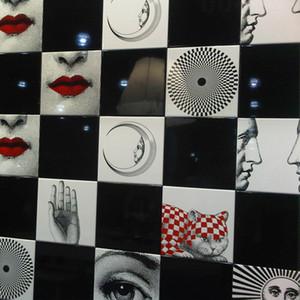Lina Face Tile Retro Milan Style Human Face Illustration Wall Tile Corridor Toilet Decorative Wall Painting Ceramic Craft SH190918