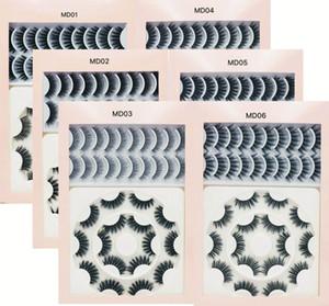 طويل جديد الطبيعي 18 أزواج الرموش الطبيعية لونغ 3D المنك جلدة الرموش الصناعية ماكياج الرموش المنك الامتدادات