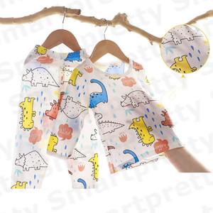 Bambino pigiama di cotone Estate Anti-Mosquito Abbigliamento vestito infantile delle ragazze del ragazzo del fumetto della stampa t-shirt + Pants Outfits bambini traspirante Abbigliamento E31005