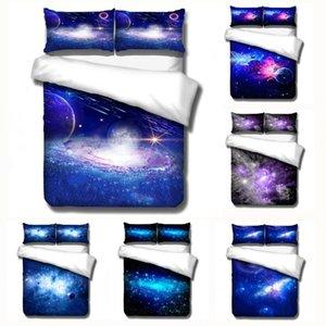 Denisroom 3D Starry Sky Quilts e Bedding Set Personalidade capa de edredão duplo cama edredons da cama ajustado XY74 #