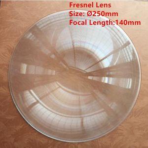 PMMA lentille de Fresnel diamètre 250mm FL160mm solaire en plastique mise au point acrylique Loupe bricolage projecteur