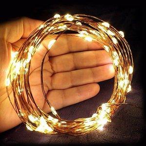 Goodland LED String Lights Luces de hadas impermeables Luces de guirnalda de alambre de cobre de Navidad para decoración de vacaciones de boda Gerlyanda