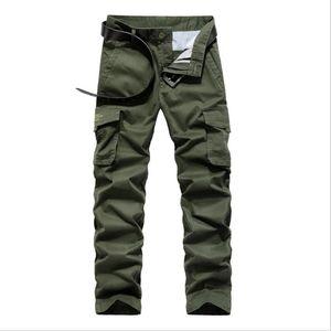Pantalones de carga de los hombres ocasionales de los hombres de algodón Multi Bolsillos Tactical Pantalones para hombre de trabajo Joggers Trajes Pantalon Homme Plus Tamaño 30-44