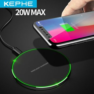 20W Fast Wireless Charger For Samsung Galaxy S10 S9 S9+ S8 Note 9 USB Qi Charging Pad for iPhone 11 Pro XS Max XR X 8 Plus