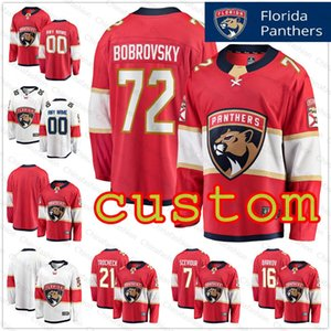 Personalizado Florida Panthers Jersey Mens Mulher Kids Mike Hoffman Jersey Dryden caça Jamie McGinn Riley Sheahan Keeper Hockey Jerseys