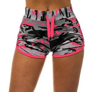 Women Sport Yoga Shorts Women Cool Shorts Sport Short Fitness Camouflage Elastic Running Outdoor Yoga