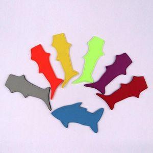 Shark Shape Pure Color Popsicle Sleeve Holder Ice Cream Sleeve For Environmental Neoprene Pop Holders Tools YYA38