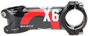 من ألياف الكربون دراجة الجذعية 3K لامع سوبر لايت الألياف الوزن الكربون + سبائك الألومنيوم دراجة المقود الجذعية