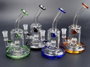 8 inch glass dab rig bubbler 14mm oil burner glass bong new handmade clear beaker dab rig glass bubbler pipe 14mm quartz banger