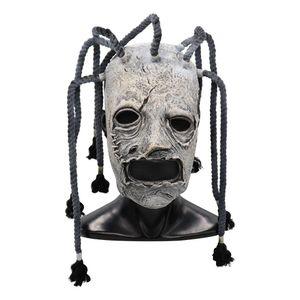 Máscara de la película Slipknot Corey Taylor Cosplay Látex Complementos Disfraz adultos fiesta de Halloween vestido de lujo