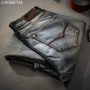 Airgracias Brand Jeans Retro Nostalgia Straight Denim Jeans Men Plus Size 28-40 Casual Men pantalones largos Pantalones Brand Biker Jean MX190718
