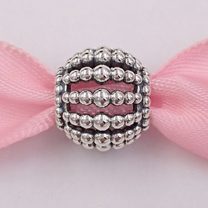 Authentiques Argent 925 perles Charms perles ajourées charme Fits bijoux européens Style Pandora Bracelets Collier 798679C00