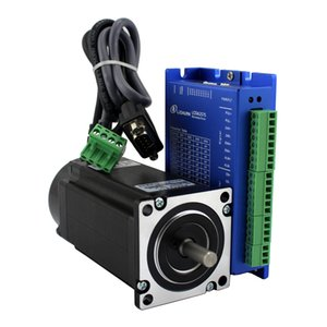 Lichuan 4.8N.m 680oz.in Nema24 closed loop stepper motor and driver with 5m encoder cable 2 phase L-112mm D=8mm DC20-50V 6A