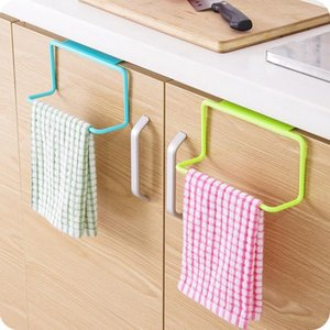 Kitchen Organizer Towel Rack Hanging Holder Bathroom Cabinet Cupboard Hanger Shelf For Kitchen Supplies Accessories TY2427