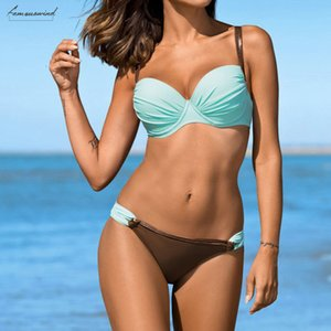 2020 Womens Bikini Push Up Bra Bikini Set Swimsuit Bathing Suit Swimwear Beachwear Swimwear Female Plus Size Swimwear Biquin 38