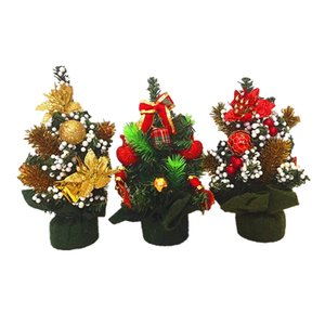 1 pc 20cm Mini Artificial Christmas Tree Decoration Gift Decor Ornament for Table House Party Christmas 4 Random styles