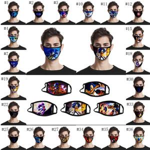 DHL ücretsiz gönderim Sonic 3D baskılı rüzgar ve toz maskesi tasarımcı yüz sınır ötesi nefes yüz maskeleri maske