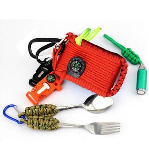 29 in 1 Outdoor-Notfalltasche Multifunktions-Sicherheits-Überlebensausrüstung Camping Wandern Erste-Hilfe-Survival-Tool Box Selbsthilfe-Kasten-Beutel