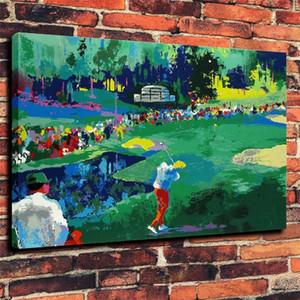 LeRoy Neiman 빅 타임 골프, HD 캔버스 인쇄 새 집 장식 미술 그림 / (Unframed / Framed)