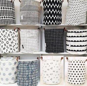 Sala de crianças brinquedos sujos roupa Lavandaria Ins Basket Organização Bins Canvas Lavandaria Diversos Armazenamento caixas Bag 18 estilos 40 * 50 centímetros cestas LXL10-2