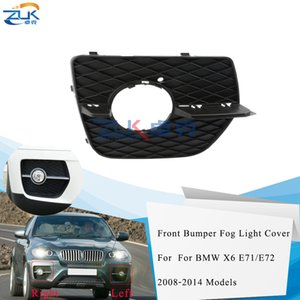 ZUK Front Bumper Fog Light Fog Lamp Cover Trim Mesh Grill Grille For BMW X6 E71 E72 2008-2014 Foglight Garnish