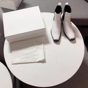 Горячая Продажа-ботинки женщин 205w39nyc Claire 205 Nyc Западной Кожи Ботильоны Женщина Классический ковбой Эластичной Panels Обувь женской пинетки