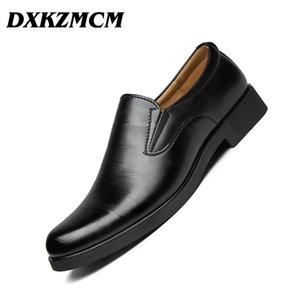 DXKZMCM Формальная Обувь Мужчины Круглым Носком Мужчины Классическая Обувь Кожа Оксфорд Для Модной Обуви