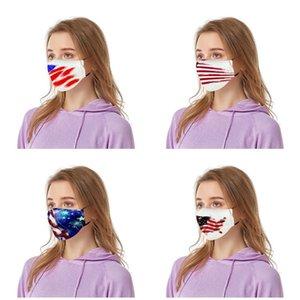 Masques New Independence Day Impression numérique Protection poussière lavables masques crème solaire peut être utilisé pour place PM2,5 Veil T3I5798 Gaskets