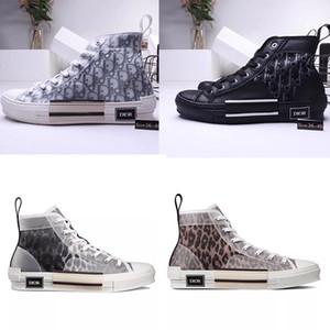 Lüks marka B23 eğik işbirliği NWOB büyük çocuklar Gençlik genç erkek kadın rahat ayakkabılar eğitmenler siyah nadir yüksek düşük üst Sneaker 36-45