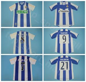 2003 2004 1999 2000 Retro Deportivo de la Coruna Soccer 7 Makaay Jersey Djalminha Tristan Valeron Turu Flores Duscher Football Shirt Kits