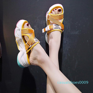 Slippers Casual Flat Shoes Female Slides Platform Sneaker Women Home Pantofle Heeled Mules Summer Woman Lady Luxury Soft c09