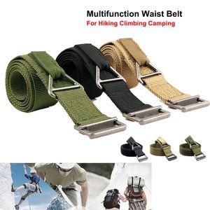 Nylon de alta densidad de múltiples funciones de la correa de cintura formación de haces del emergencia con hebilla metálica para acampar Escalada Senderismo de rescate.