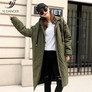 Женский пуховик Parkas хлопчатобумажная одежда женская длинная секция с капюшоном BF-пальто 2021 зимнее утолщение плюс теплые пары Одежда для одежды H00873