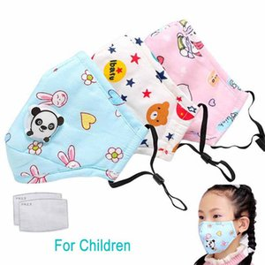 1Pcs PM2.5 Crianças Boca máscara respiratória Válvula dos desenhos animados Panda Thicken Smog Máscara quente enquadra máscara de poeira 2-10 Years Old crianças