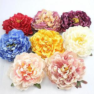 15cm Şakayık Çiçek Başkanı İpek Yapay Çiçekler Evlilik doğum günü partisi Düğün Çiçekleri Ev Dekorasyon Süs Flores Çelenk